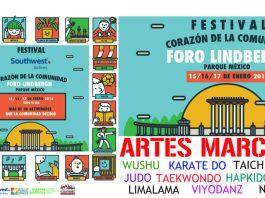 El Festival Corazón de la Comunidad, en el Foro Lindbergh, ya cuenta con cartel oficial para identificar este evento donde las artes marciales estarán presentes para ofrecer demostraciones y clases interactivas gratuitas para todo público, en un programa que se llevará a cabo por primera vez en México.