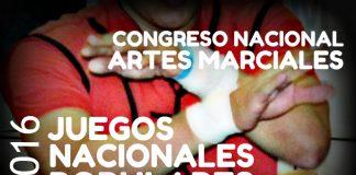 Responsables y organizadores de la especialidad de Artes Marciales de los Juegos Nacionales Populares 2016, se reunirán en un Congreso Nacional para afinar detalles para las próximas competencias.