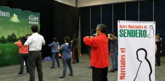 Tai Chi Chuan, Chi Kung, Wushu, Karate Do y Artes Marciales Aplicadas fueron parte de las actividades presentadas en el segundo día de la 'Expo Salud y Bienestar 2015' del WTC-CDMX.