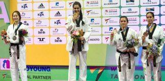 La mexicana y triple medallista de taekwondo en Juegos Olímpicos, María del Rosario Espinoza, logró su objetivo de subir al podio del Campeonato Mundial de Muju 2017, al conquistar la medalla de bronce de su categoría, con lo cual la Selección Nacional logró sumar dos preseas.