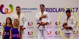 Su Fe, el trabajo, la disciplina y dedicación del mexicano Eduardo Gutiérrez Cortés obtuvo su recompensa, al conquistar la medalla de bronce en The World Games Wroclaw 2017, y con ello se convirtió en el primer atleta que gana una presea en la historia de la modalidad de Jiujitsu Fighting.