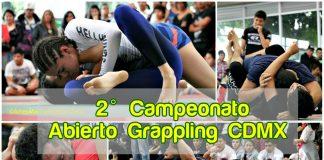El 2º Campeonato Abierto de Grappling CDMX 2017 ha rebasado fronteras y duplicado el número de inscripciones en comparación al del año pasado, además de que tendrá participación de competidores de Nepal, Brasil y estados Unidos.
