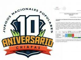 Debido a los daños registrados en el estado de Chiapas a causa de los últimos fenómenos naturales, entre ellos el sismo registrado el pasado 7 de septiembre, fue reprogramada la realización de los Juegos Nacionales Populares 2017 (JNP2017), que se llevarían a cabo en este estado.