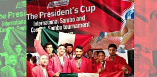 Los nueve integrantes de la Selección Mexicana de Sambo levantaron con gran orgullo la bandera de México en el pódium del 'The Presidents Cup 2017', el máximo evento del arte marcial ruso, al lograr ganar tres medallas de bronce.