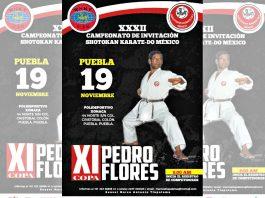 La ciudad de Puebla será sede de los torneos del Camino de la Mano Vacía más representativos en México, el XXXII Campeonato de Invitación Shotokan Karate-Do México y XI Copa Pedro Flores, con lo cual se reconoce la trayectoria de uno de los iniciadores de esta disciplina en el país, Shihan Pedro Flores Osorio.
