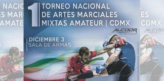 Seis áreas de combate estarán listas en la Sala de Armas Ciudad Deportiva, para recibir a los cientos de competidores de todo el país que el próximo domingo participarán en el 1er Torneo Nacional de Artes Marciales Mixtas Amateur CDMX 2017.