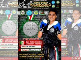 En el primer día de actividades del Campeonato Mundial de Kickboxing en Budapest 2017, México ya obtuvo su primera presea, y fue por conducto de Luis Felipe González quien conquistó medalla de plata.