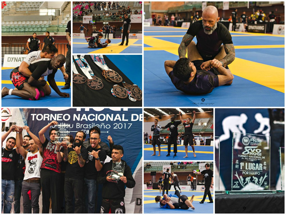 Gran 'garra' demostraron competidores de diferentes escuelas y organizaciones de todo México, así como de Brasil, que se dieron cita sobre los tatamis del 8º Torneo Nacional de Jiu Jitsu Brasileño No Gi, realizado en la Sala de Armas de Ciudad Deportiva Magdalena Mixihuca.