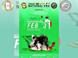 Quedan unos pocos días para que el cierre de inscripciones para el México National Pro Jiu Jitsu Championship – Gi, uno de los torneos más importantes de la disciplina que por primera ocasión se realiza en territorio azteca y que otorgará puntos para formar parte del Abu Dhabi World Professional Jiujitsu Championship 2018.