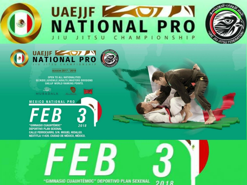 Este martes 30 de enero quedarán cerradas las inscripciones, en su etapa de registro adicional, para los competidores que deseen ser parte del México National Pro Jiu Jitsu Championship-Gi CDMX, al cual ya se encuentran inscritos practicantes de 16 países para buscar puntos y clasificar al Abu Dhabi World Professional Jiu Jitu Championship 2018.