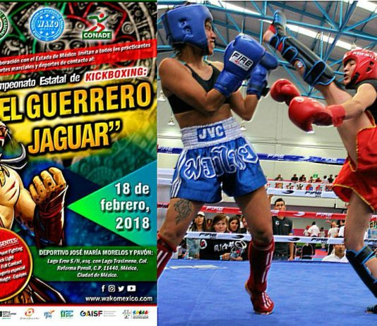 """Todo está listo para que el próximo domingo, 18 de febrero, más de 300 atletas de kickboxing de la Ciudad de México y Estado de México, pisen los tatamis para poner a prueba sus habilidades en intensos combates correspondientes al Campeonato Estatal """"El Guerrero Jaguar""""."""