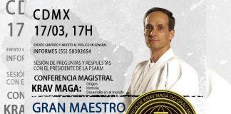 Con 50 años de vida en la práctica del sistema defensa personal de krav maga, el Gran Maestro (GM) Kobi Lichtenstein, estará en la Ciudad de México (CDMX) para ofrecer una Conferencia Magistral y Exhibición gratuita y abierta al público en general.