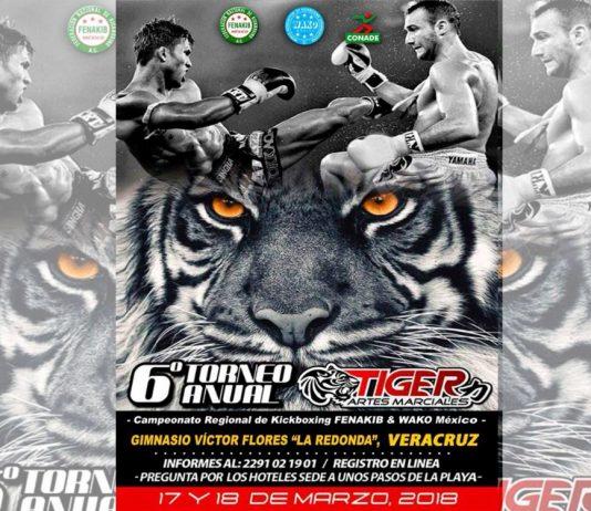 La ciudad de Veracruz vibrará de emoción este fin de semana con el Campeonato Regional de Kickboxing y 6º torneo Anual Tiger Artes Marciales, de donde saldrán los clasificados para el 10° Campeonato Panamericano 2018 y el Mundial de Cadetes & Juniors 2018.