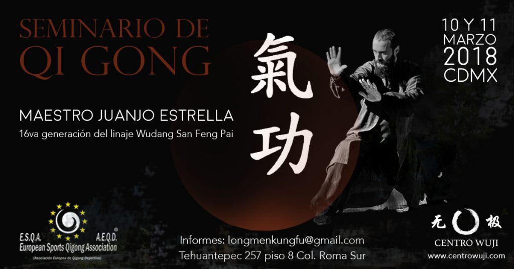 Uno de los exponentes reconocidos mundialmente en el arte del Qi Gong tradicional daoísta de Wudang, el Maestro Juanjo Estrella, ofrecerá una charla y seminario de esta técnica para que la energía interna del organismo se despierte y fluya correctamente para alcanzar la relajación y concentración profunda, con lo cual se mantiene un estado óptimo de salud.